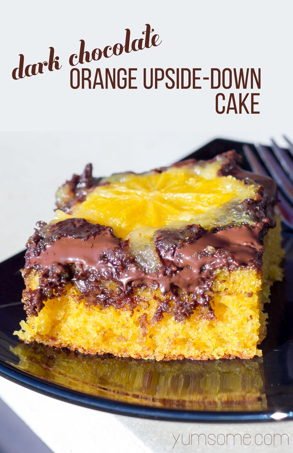 Chocolate Vegan Upside Down Cake