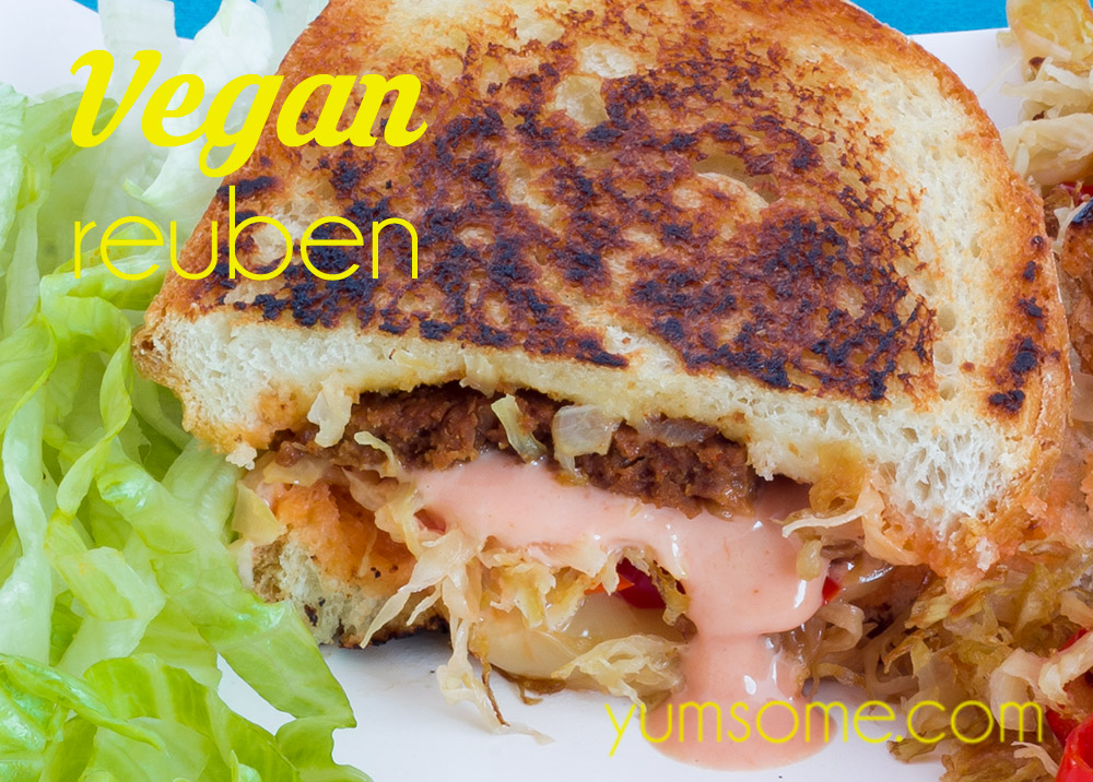 My Deliciously Comforting Vegan Reuben Has Crispy Bread Vegan Salt Beef Chilli Sauerkraut