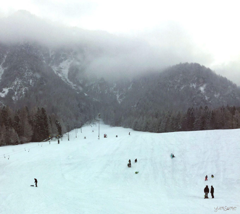 Christmas snow in Slovenia | yumsome.com