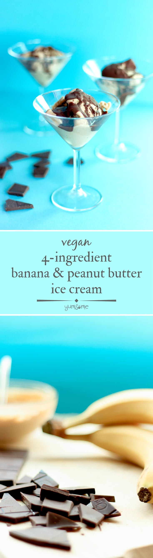 4-Ingredient Vegan Banana and Peanut Butter Ice Cream