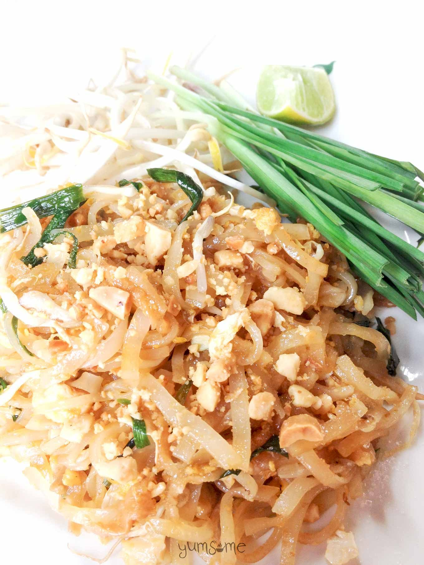 Thailand's ubiquitous fried noodle dish, phad Thai, is fast, cheap, and easy to make, and very filling. | yumsome.com