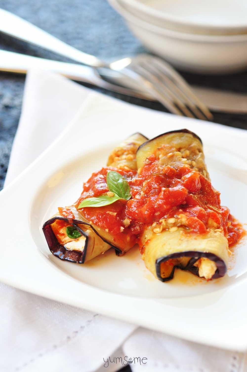 Favoloso Easy Vegan Eggplant Roll-Ups (Involtini di Melanzane) UA48