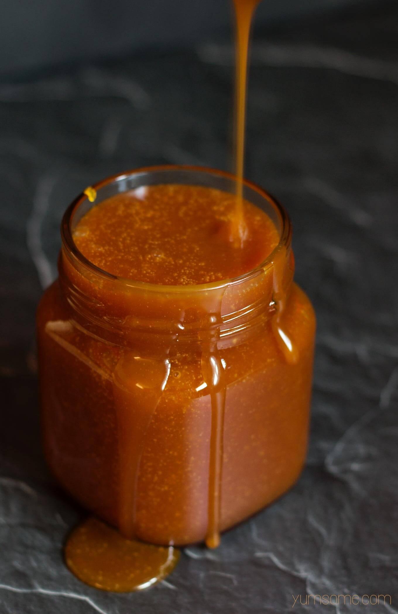 Simple 4-Ingredient Vegan Salted Caramel Sauce
