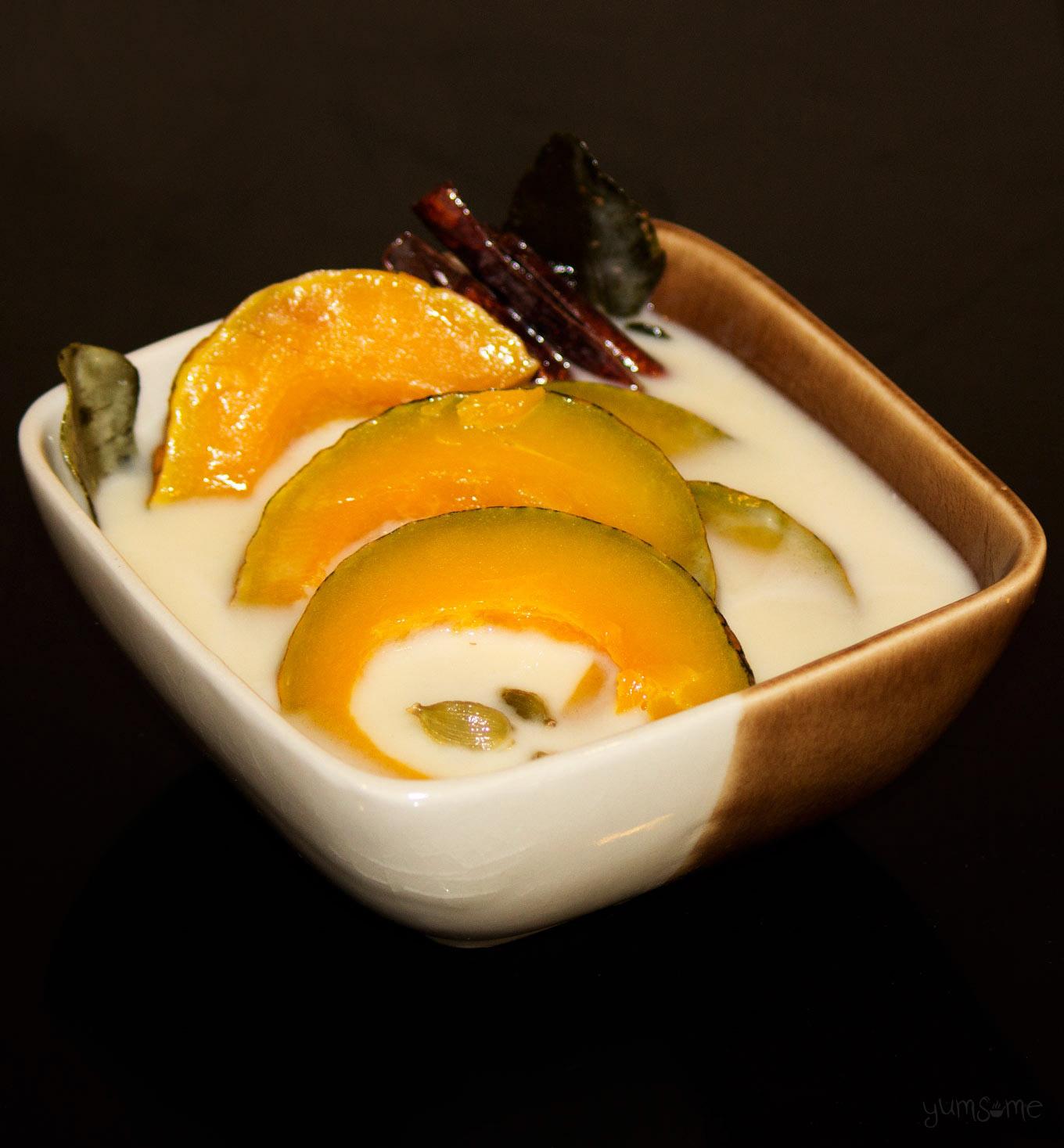 Thai pumpkin in coconut milk dessert | yumsome.com