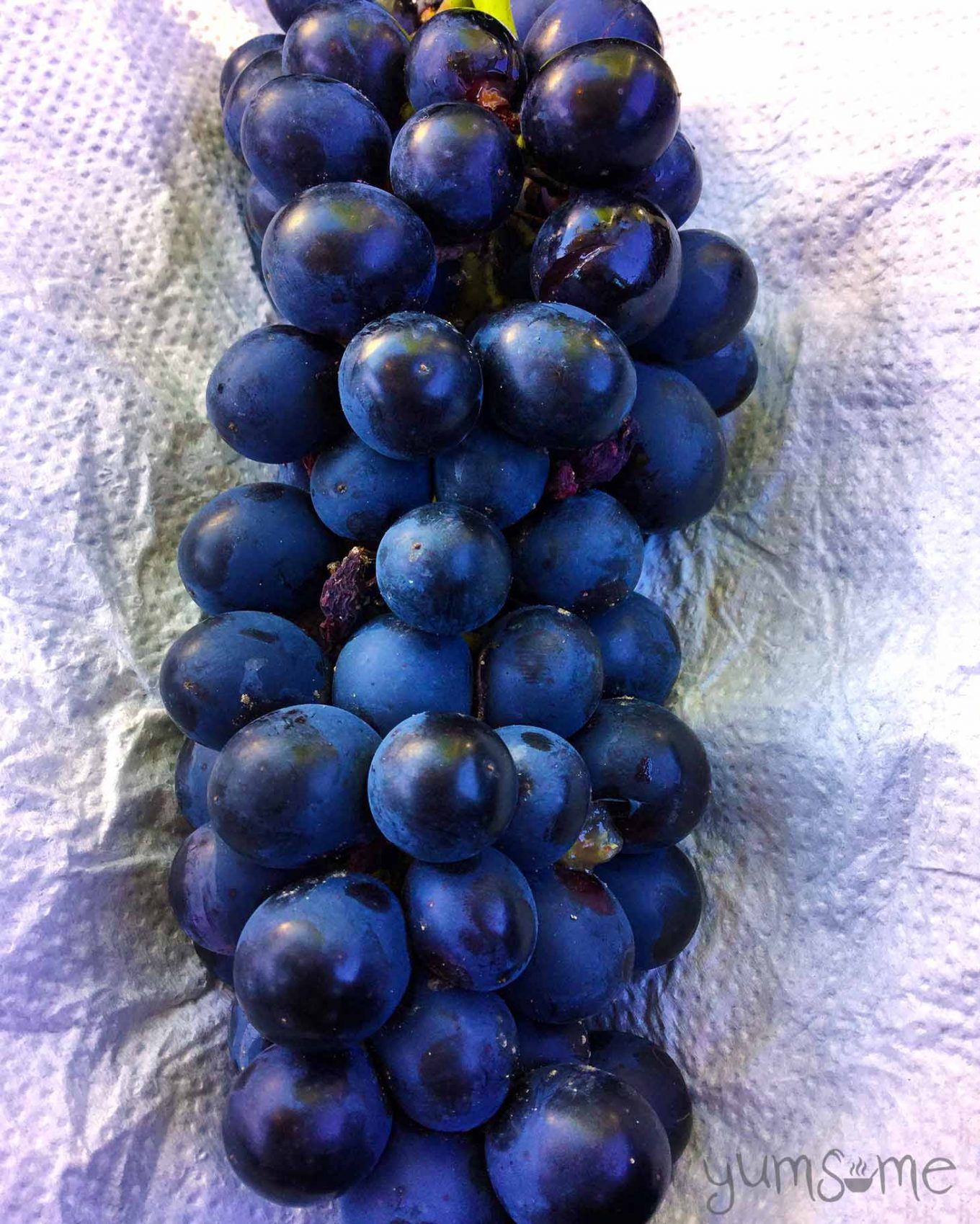 Yummy freshly-picked Romanian grapes | yumsome.com