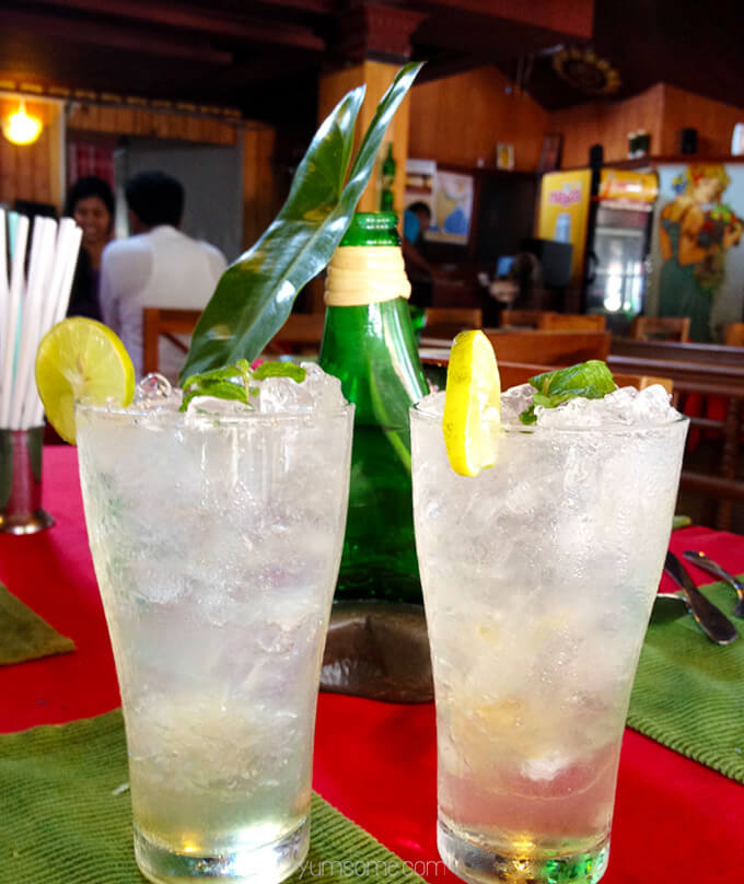 Delicious nojitos at Masala Fort. Fort Kochi, India | yumsome.com