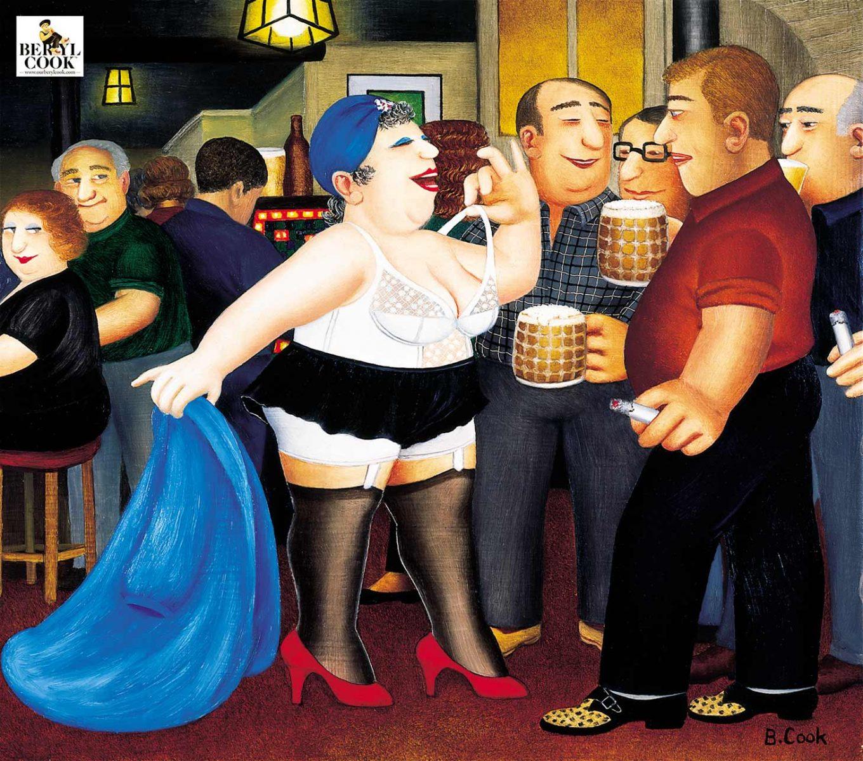 Strippergram painting by Beryl Cook.