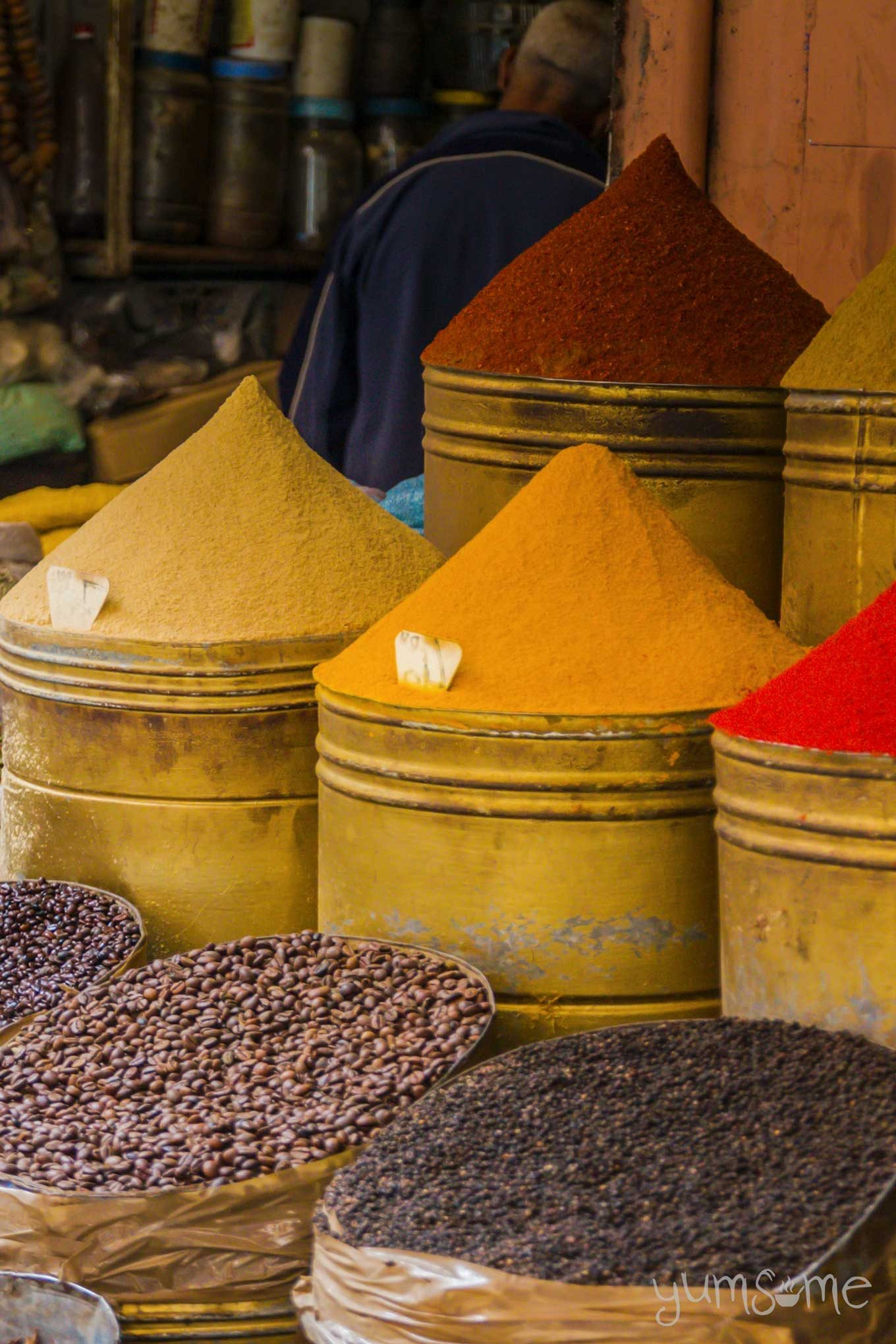 barrels of spices in the souk | yumsome.com