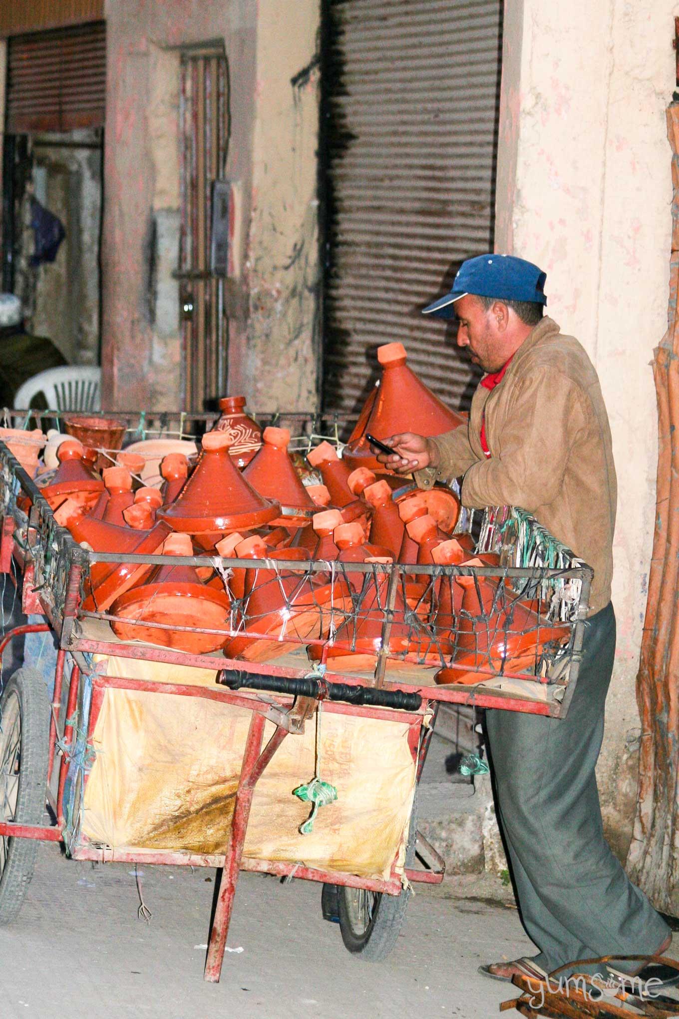tagine seller in Taroudannt, Morocco