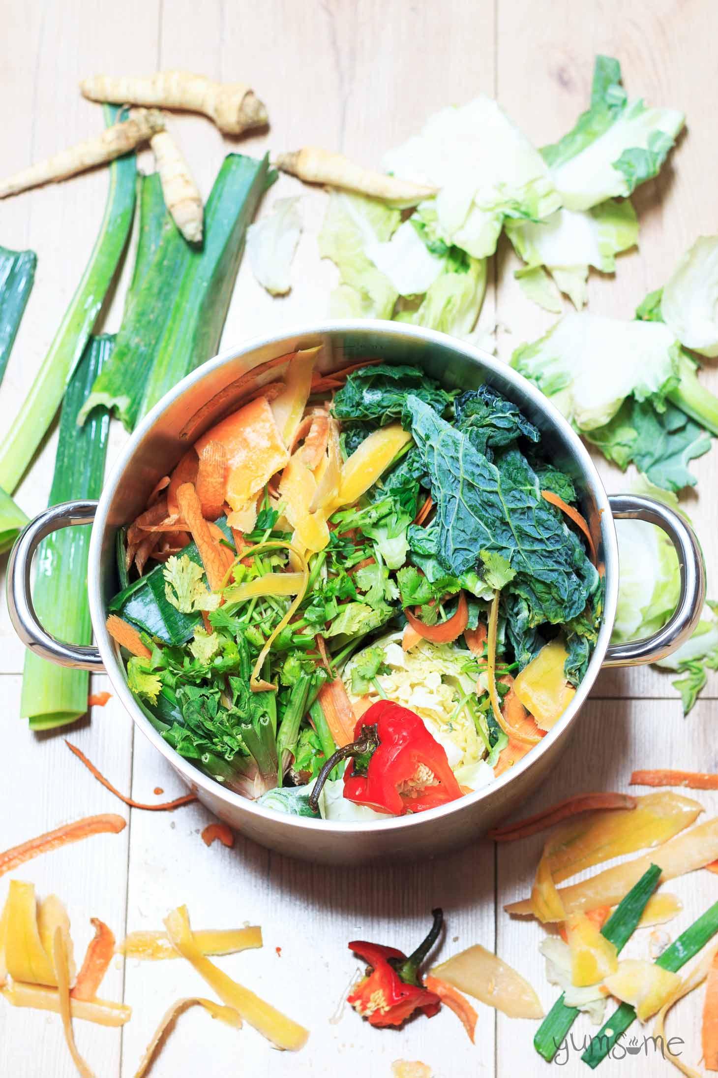Homemade vegetable stock | yumsome.com