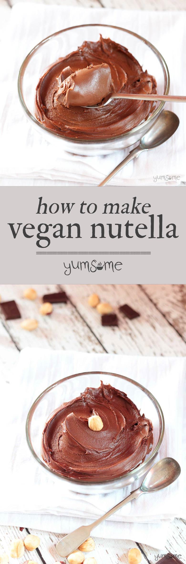 How to Make Easy Vegan Nutella
