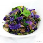 Vegan red cabbage and mushroom stuffing | yumsome.com
