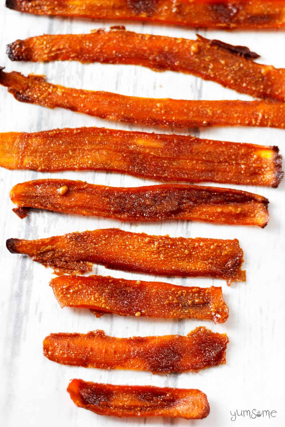 the best vegan carrot bacon | yumsome.com