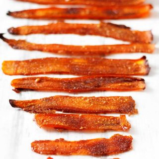yumsome vegan carrot bacon | yumsome.com