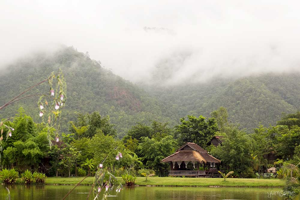 Bamboo house at Mae Hee, Thailand.