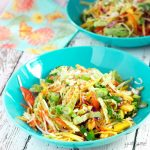Ready in just 20 minutes, this vegan som tam is an incredibly simple, yet wholly delicious Thai salad made from crunchy vegetables, dressed with a fresh and zingy hot, sour, salty, sweet dressing. | yumsome.com