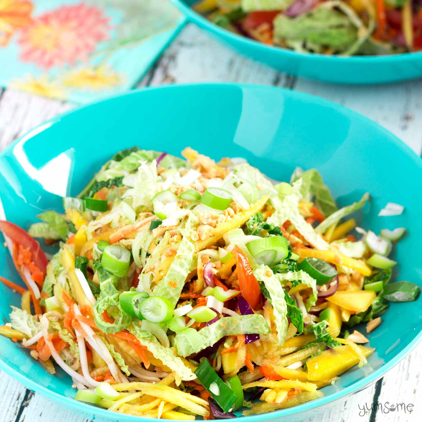 Ready in 20 mins, vegan som tam is a simple, delicious Thai salad made with crunchy vegetables dressed in a fresh and zingy hot, sour, salty, sweet sauce.   yumsome.com