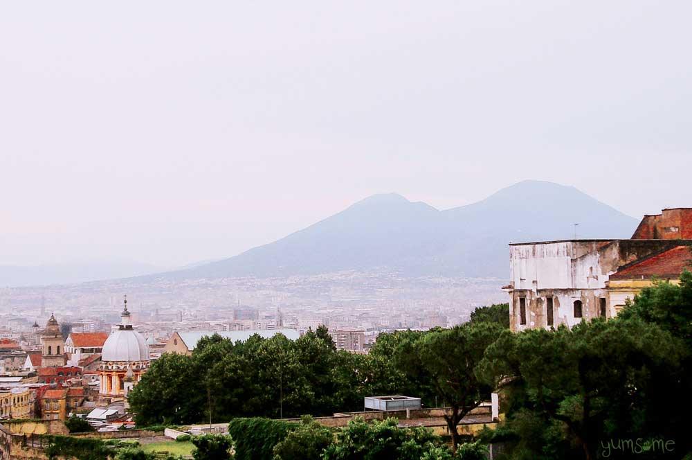 Naples with Vesuvius in the background