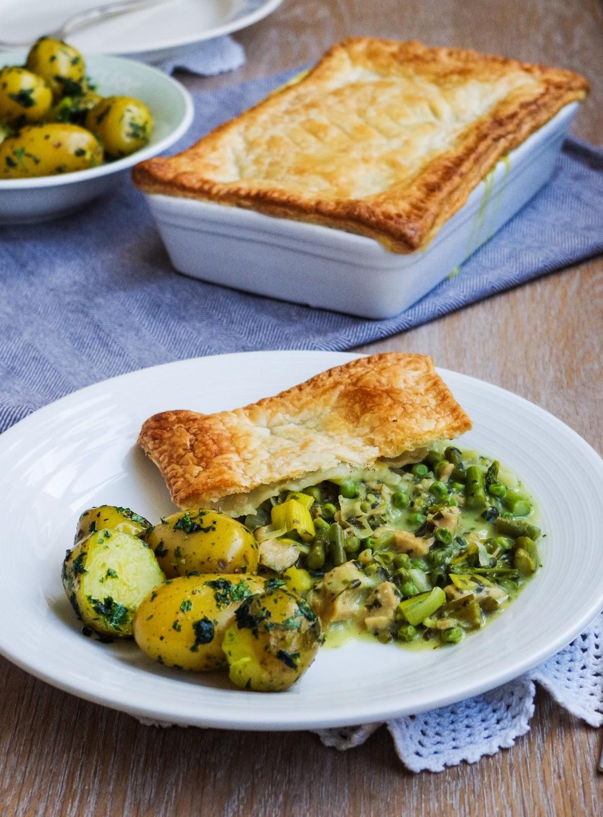 Wild Garlic & Spring Veg Pot Pie | euphoricvegan.com