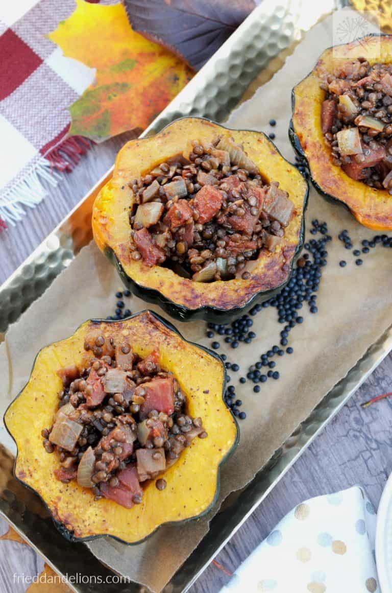 stuffed squash with curried lentils | frieddandelions.com