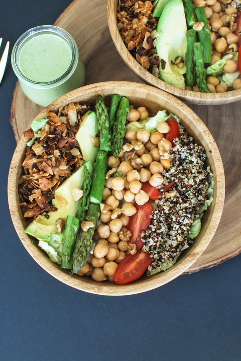 vegan cobb salad with green tahini dressing | karlcooks.com