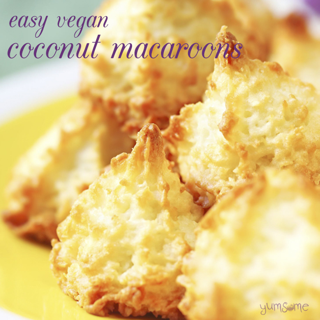 Easy Vegan Coconut Macaroons Yumsome