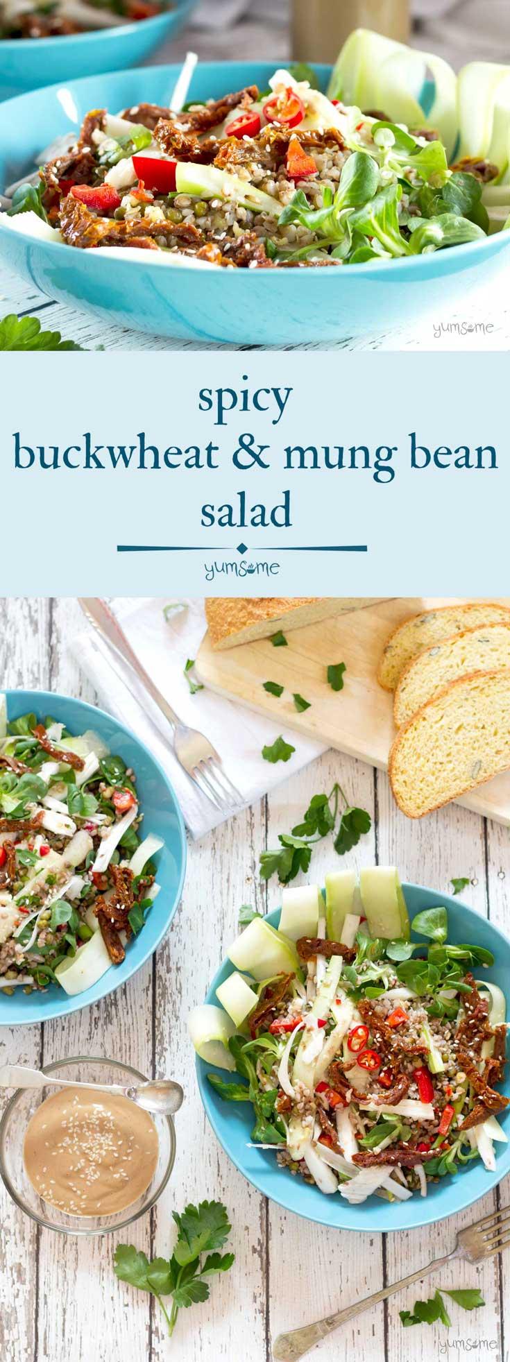 Spicy Buckwheat and Mung Bean Salad