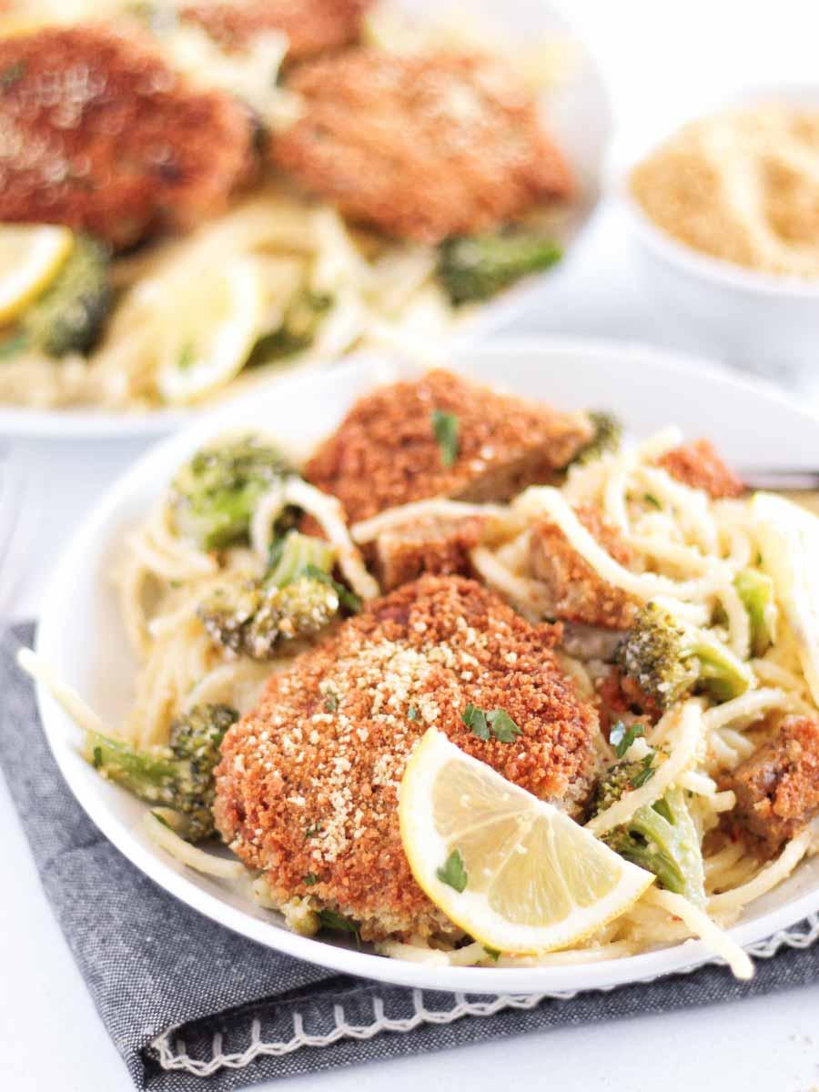 best vegan seitan chicken cutlets | pastabased.com