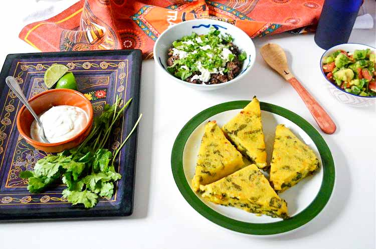 Corn and spinach polenta triangles | tinandthyme.uk