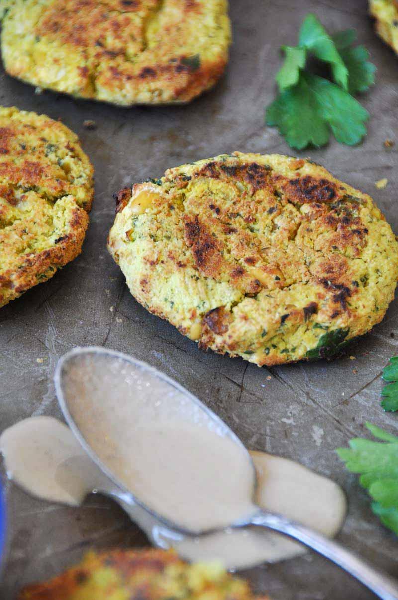 crispy oven baked falafel