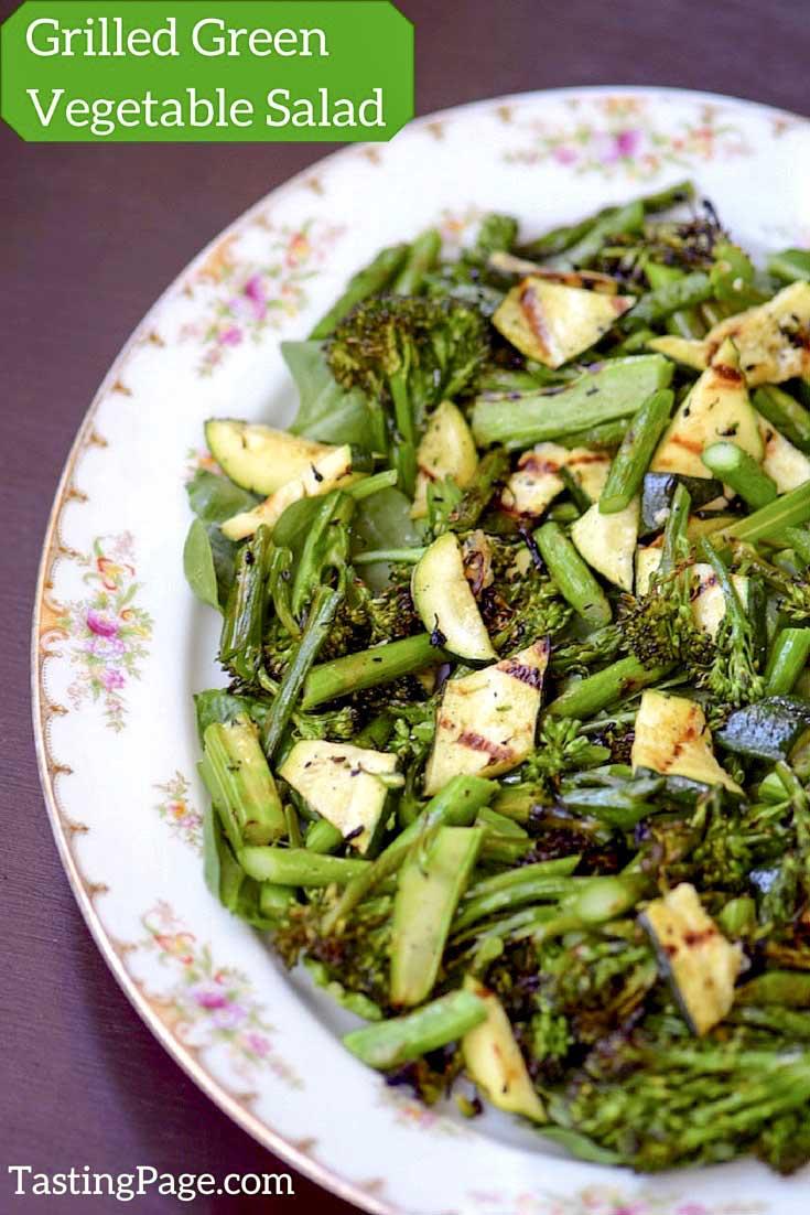 Grilled green vegetable salad | tastingpage.com