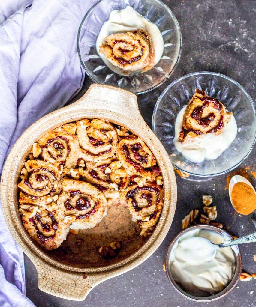 cinnamon scroll french toast bake | rainbownourishments.com