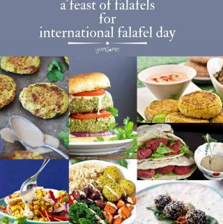 a feast of falafels collage | yumsome.com