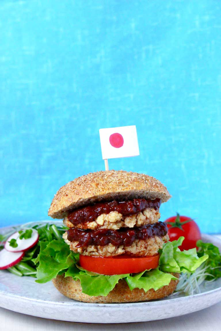Japanese burger | rhiansrecipes.com