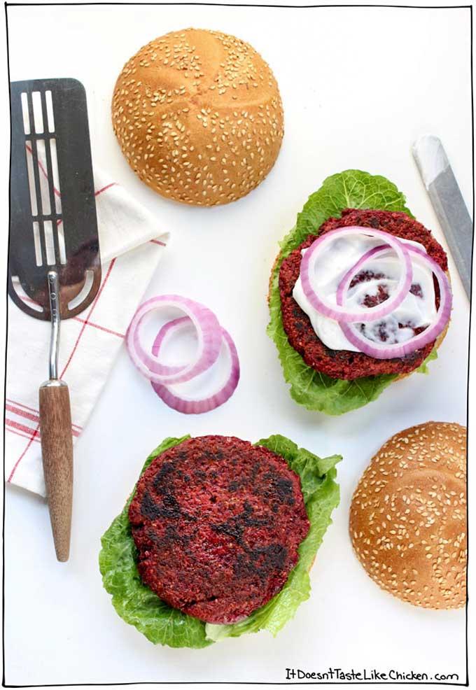 Beet burgers | itdoesnttastelikechicken.com