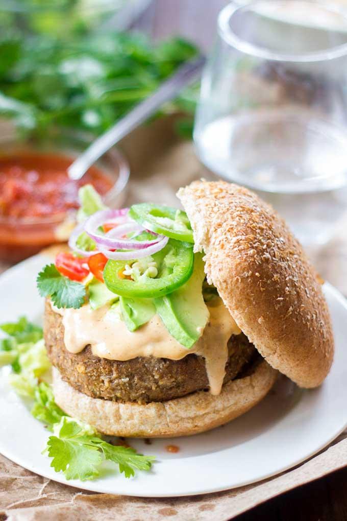 Lentil nacho burger | connoisseurusveg.com