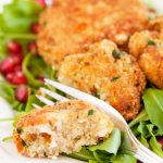 a bite of easy quinoa and cheese patties | yumsome.com