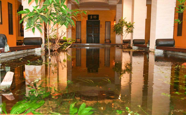 Lucky fish pond in Shanghai Mansion atrium