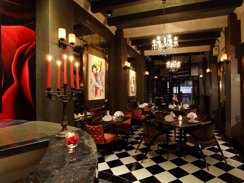 The Red Rose restaurant at Shanghai Mansion