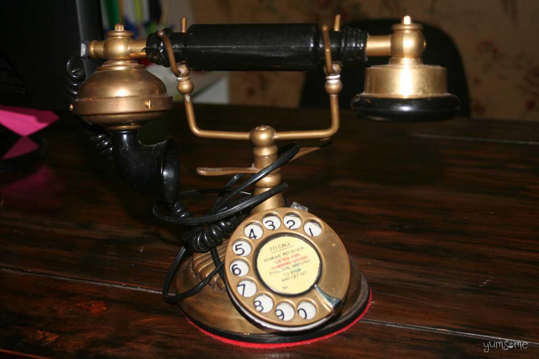vintage telephone at Shanghai Mansion