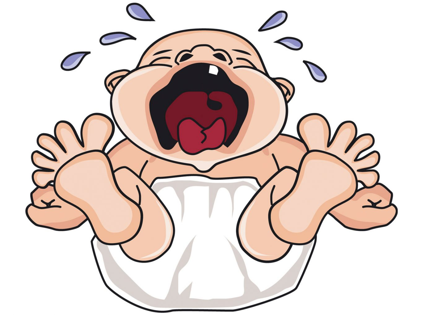 crying cartoon baby | yumsome.com