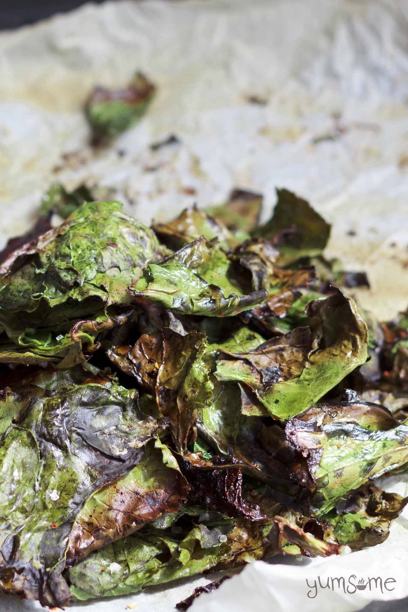 easy-peasy healthy baked kale chips