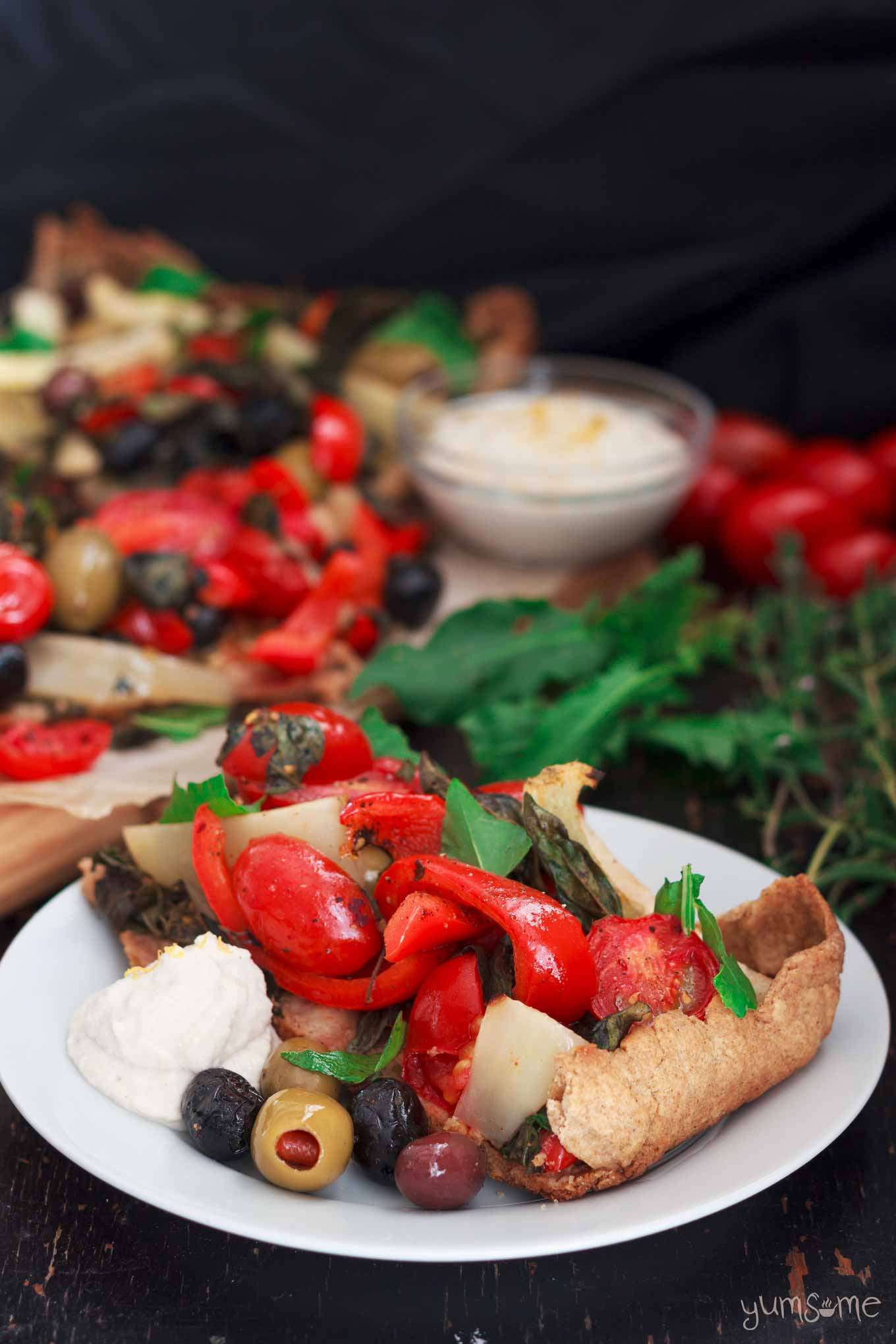 Mediterranean Summer Vegetable Tart