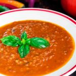 facebook image - spicy tomato, basil, and buckwheat soup | yumsome.com