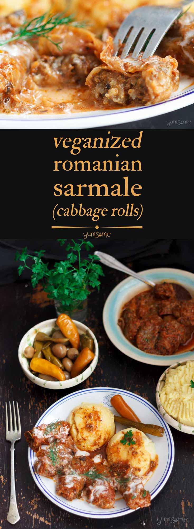 Sarmale (Stuffed Cabbage Rolls) (Vegan)