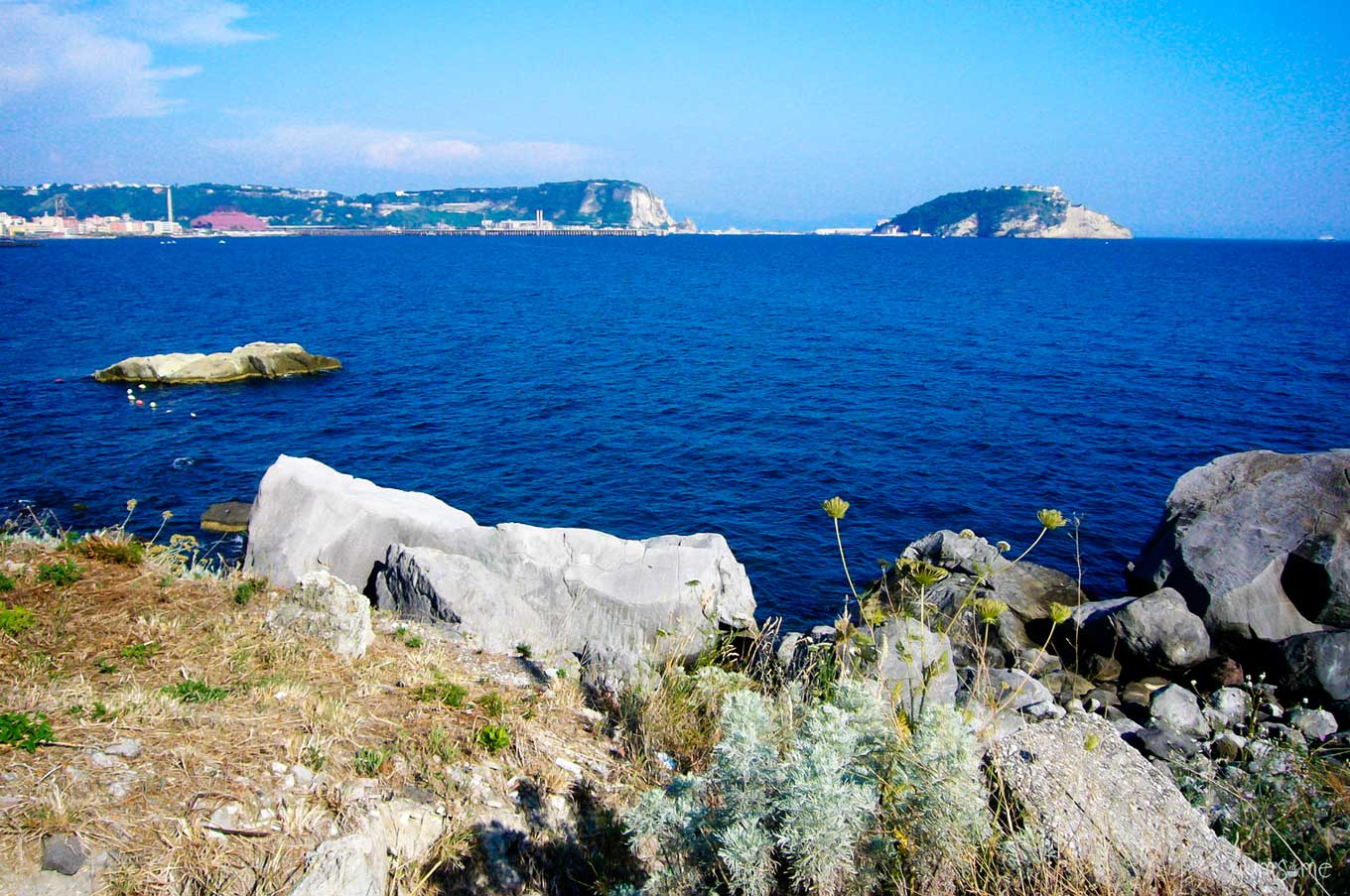 view across the Tyrrhenian Sea, Pozzuoli | | yumsome.com
