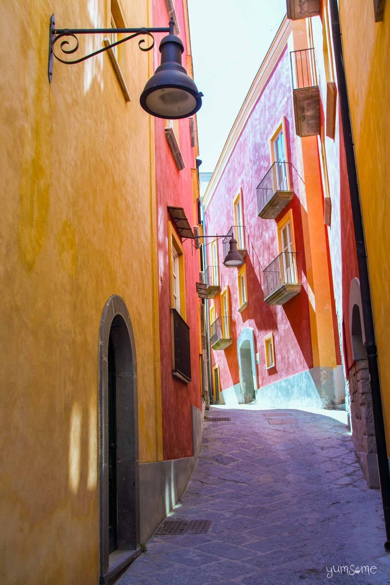 A colourful street in Pozzuoli.