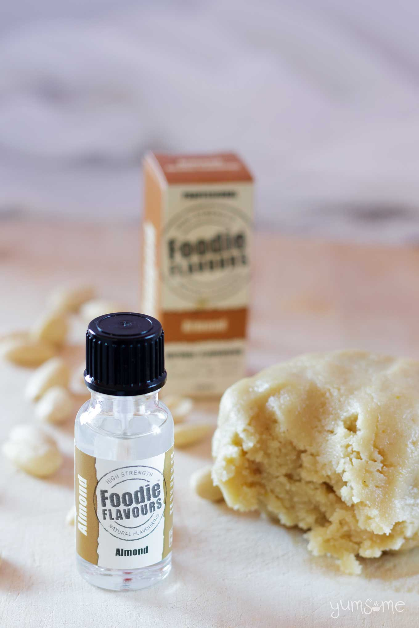 foodie flavours almond flavouring and a ball of home-made marzipan | yumsome.com