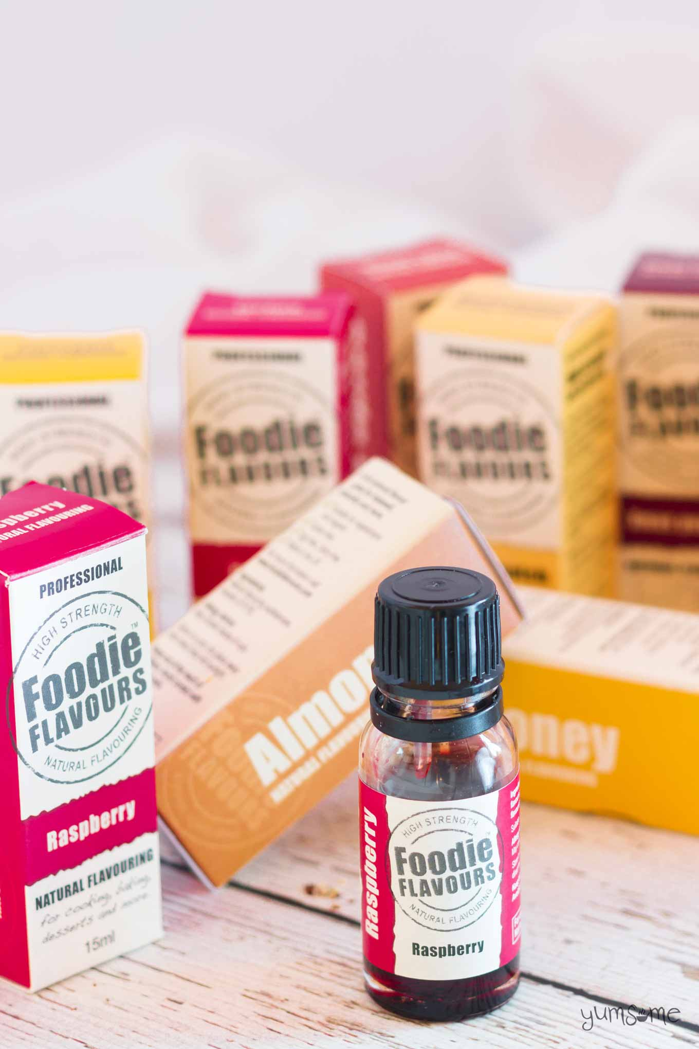 a bottle of foodie flavours raspberry flavouring | yumsome.com