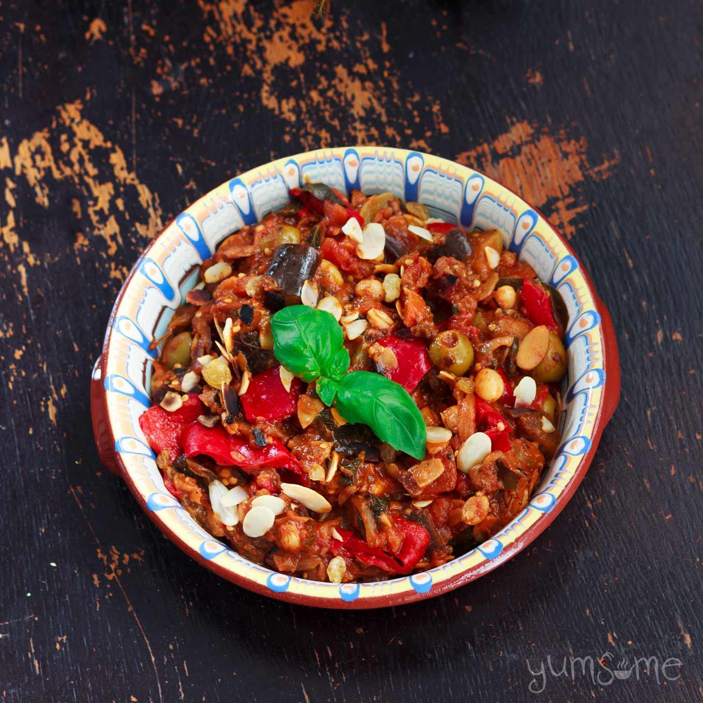 A dish of caponata.